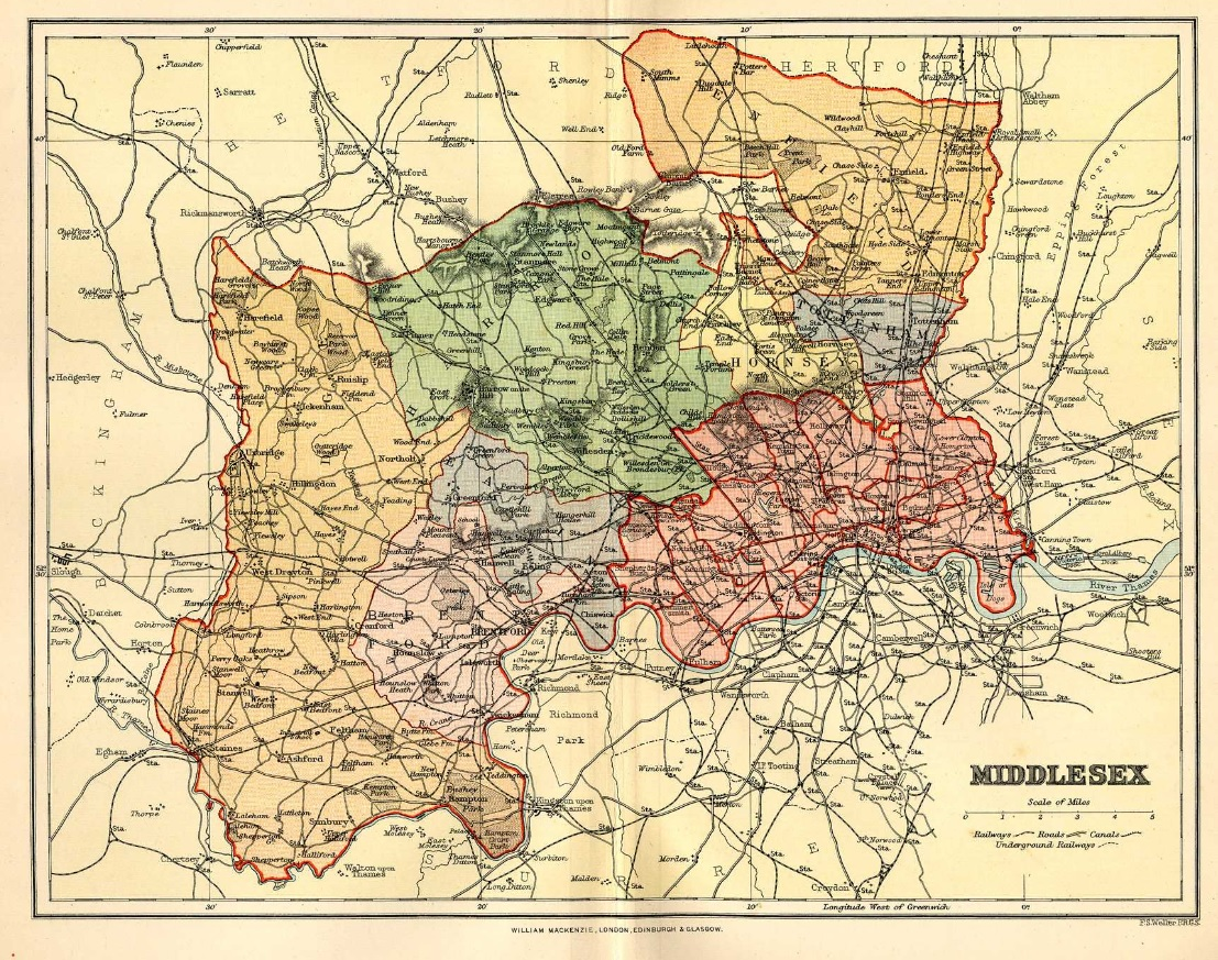 Map of old Middlesex
